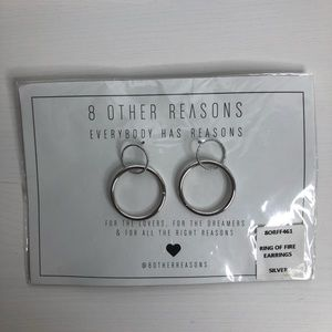 8 Other Reasons Ring Of Fire Earrings Silver